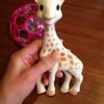 赤ちゃんのおもちゃの定番!「キリンのソフィー」と「オーボールラトル」